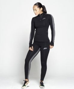 Sportlegging Dames Profit Zwart Grijs - Pursue Fitness 1