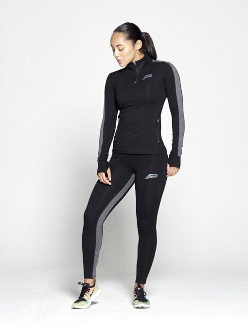 Sportlegging Dames Profit Zwart Grijs - Pursue Fitness 1