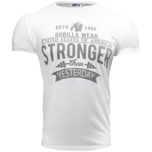 Sport T-shirt Wit - Gorilla Wear Hobbs 1