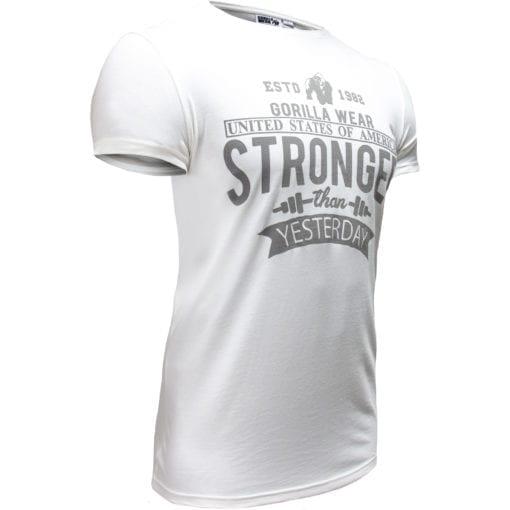 Sport T-shirt Wit - Gorilla Wear Hobbs 3