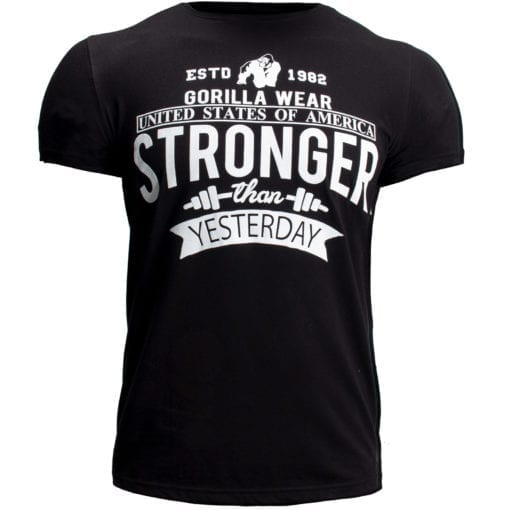 Sport T-shirt Zwart - Gorilla Wear Hobbs 1