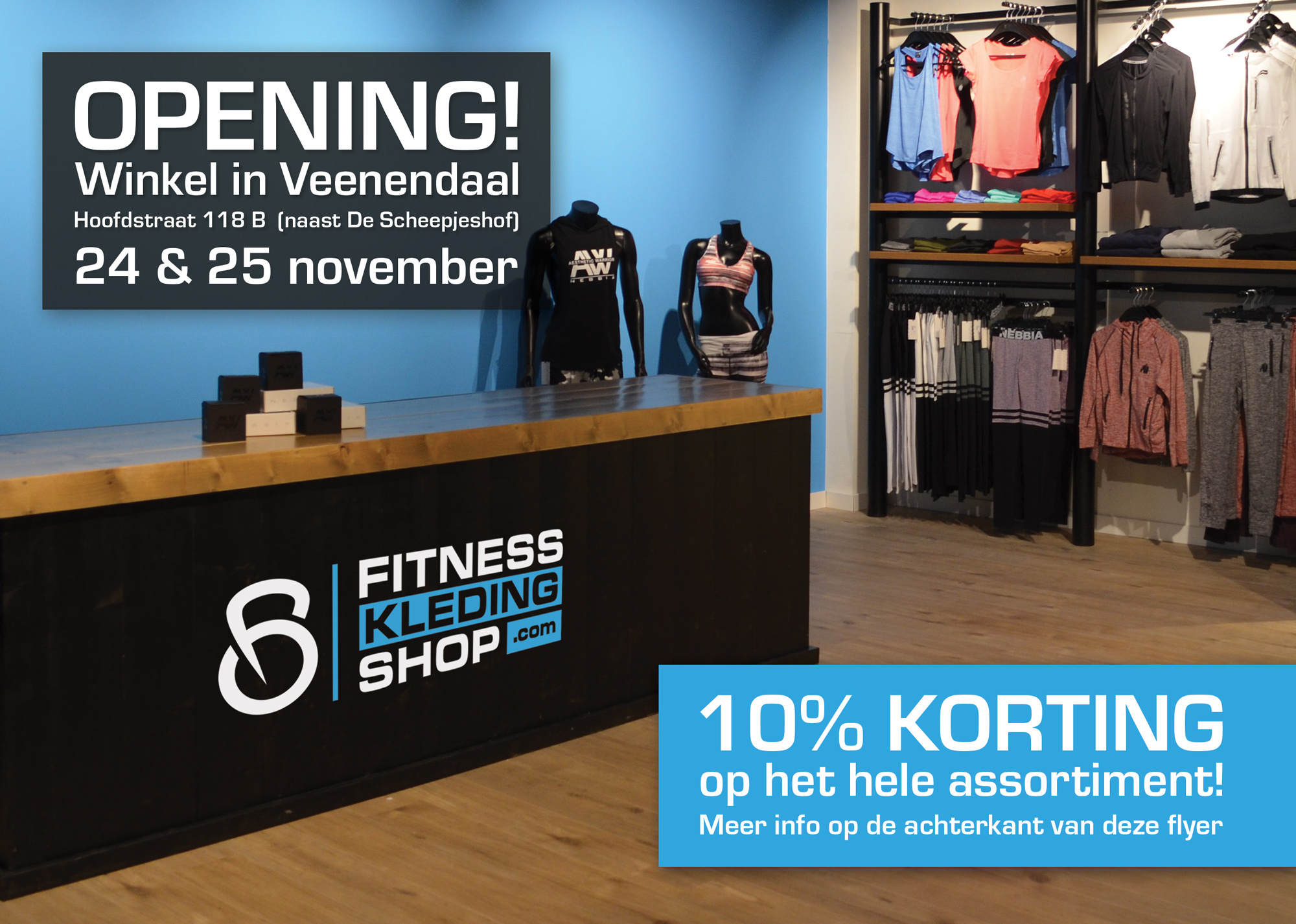 bodybuildingkleding.com opent eerste winkel