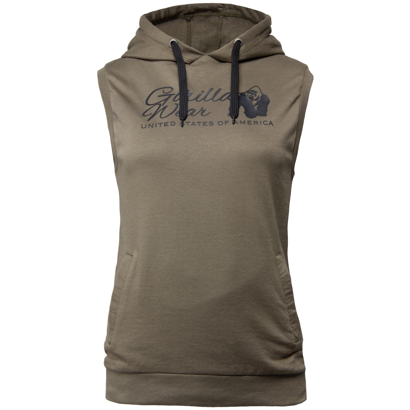 Sport Shirt Dames Hooded Groen - Gorilla Wear Selma kopen? Fitness Singlets|Gorilla Wear|Sportshirts met voordeel vind je hier