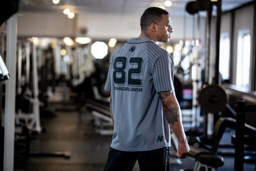 Bodybuilding T-Shirt Grijs - Gorilla Wear 82 Jersey -3