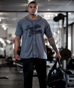 Bodybuilding T-Shirt Grijs - Gorilla Wear 82 Jersey -4