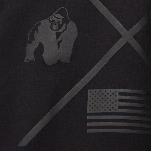 Bodybuilding Work Out Top Zwart - Gorilla Wear Sheldon -3