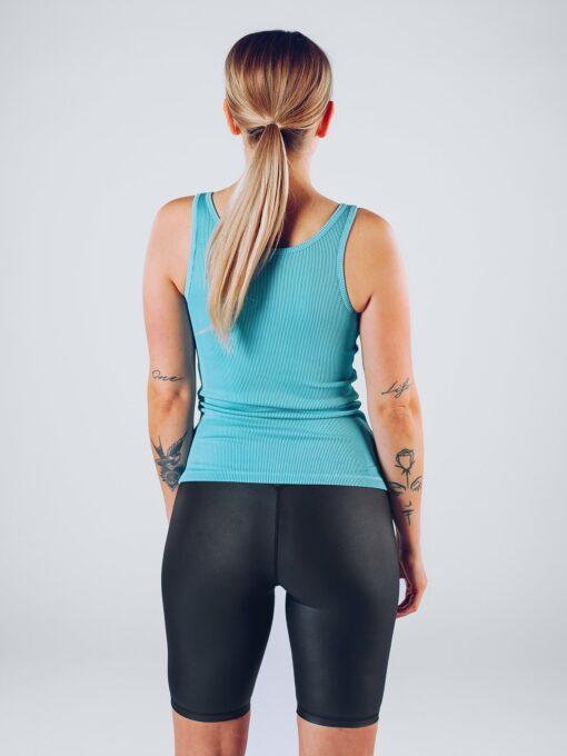 Sport Tanktop Vrouwen Blauw - Workout Emire Rib -2