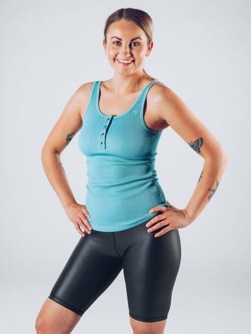 Sport Tanktop Vrouwen Blauw - Workout Emire Rib -4