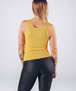 Sport Tanktop Vrouwen Geel - Workout Emire Rib -3