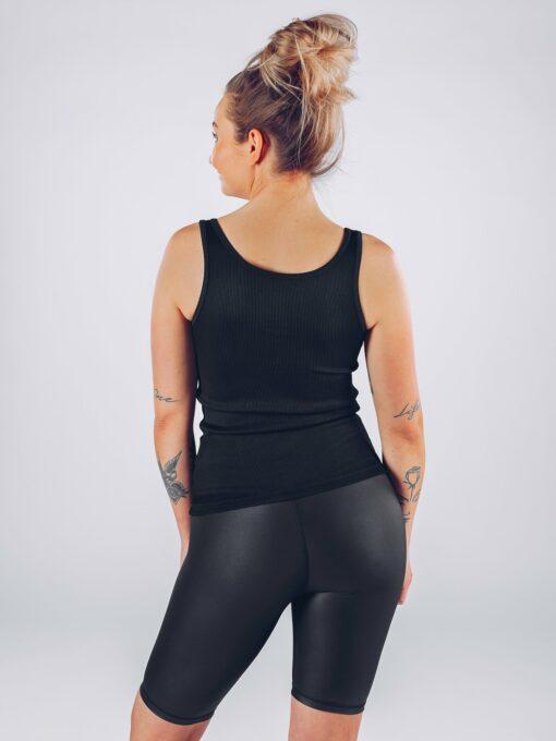 Sport Tanktop Vrouwen Zwart - Workout Emire Rib -2