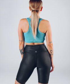 Sport Top Vrouwen Blauw - Workout Emire Rib Knot Bra -2