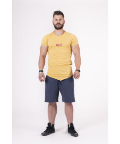 Fitness-Shirt-Heren-Geel---Nebbia-142-1