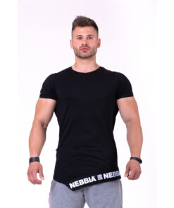 Fitness-Shirt-Heren-Zwart---Nebbia-140-1
