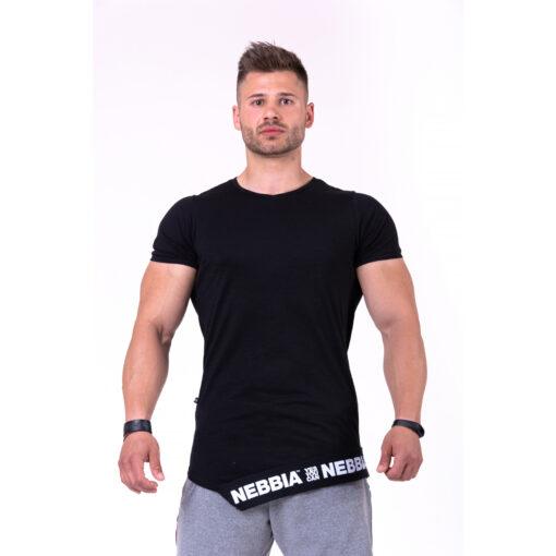 Fitness-Shirt-Heren-Zwart---Nebbia-140-1