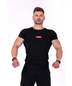 Fitness-Shirt-Heren-Zwart---Nebbia-142-1