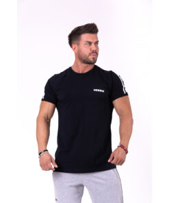 Fitness-Shirt-Heren-Zwart---Nebbia-143-1
