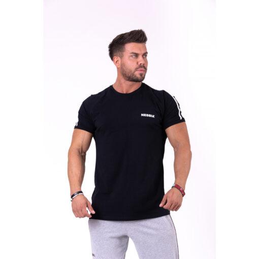 Fitness-Shirt-Heren-Zwart---Nebbia-143-1