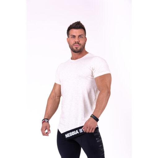 Fitness Shirt Heren Beige - Nebbia 140 1