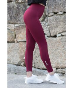 Vortex Legging Bordeaux - High Waist Sportlegging Vrouwen Bordeaux-2