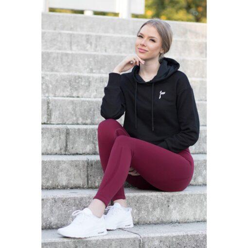 Vortex Legging Bordeaux - High Waist Sportlegging Vrouwen Bordeaux-5