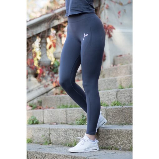 Vortex Legging Dark Grey - High Waist Sportlegging Vrouwen Donkergrijs-1
