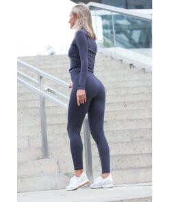 Vortex Legging Dark Grey - High Waist Sportlegging Vrouwen Donkergrijs-2