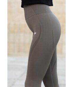 Vortex Legging Khaki - High Waist Sportlegging Vrouwen Kaki-1