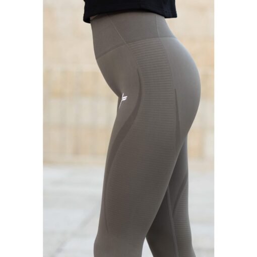 Vortex Legging Khaki - High Waist Sportlegging Vrouwen Kaki-1
