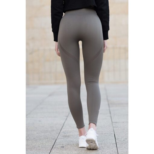 Vortex Legging Khaki - High Waist Sportlegging Vrouwen Kaki-2