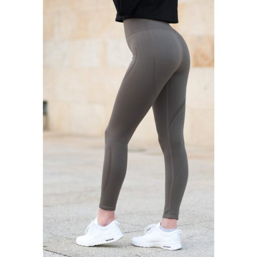 Vortex Legging Khaki - High Waist Sportlegging Vrouwen Kaki-4