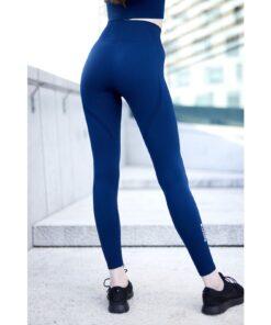 Vortex Legging Navy Blue - High Waist Sportlegging Vrouwen Donkerblauw-1