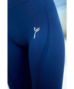 Vortex Legging Navy Blue - High Waist Sportlegging Vrouwen Donkerblauw-3