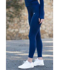 Vortex Legging Navy Blue - High Waist Sportlegging Vrouwen Donkerblauw-4